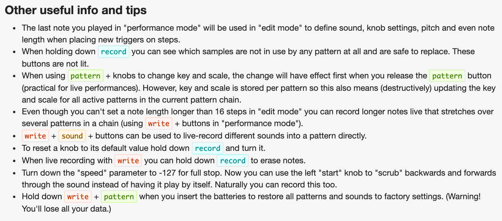 PO-35 Other tips